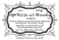 Aprikose mit Brandy